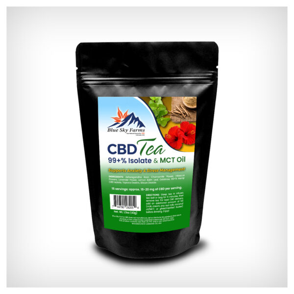 Anxiety & Stress Management CBD Isolate Tea