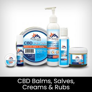 CBD Balms, Salves, Creams, and Rub