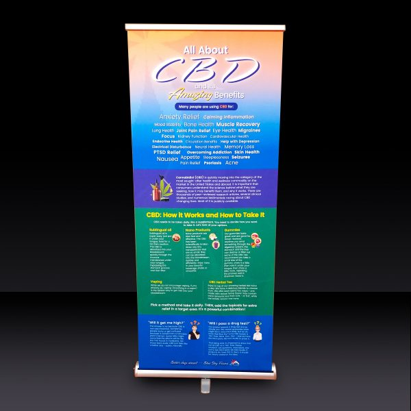 Benefits of CBD ~ Retractable Banner