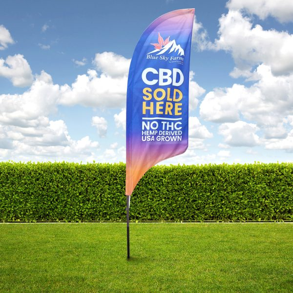 CBD Sold Here Flags ~ 9ft
