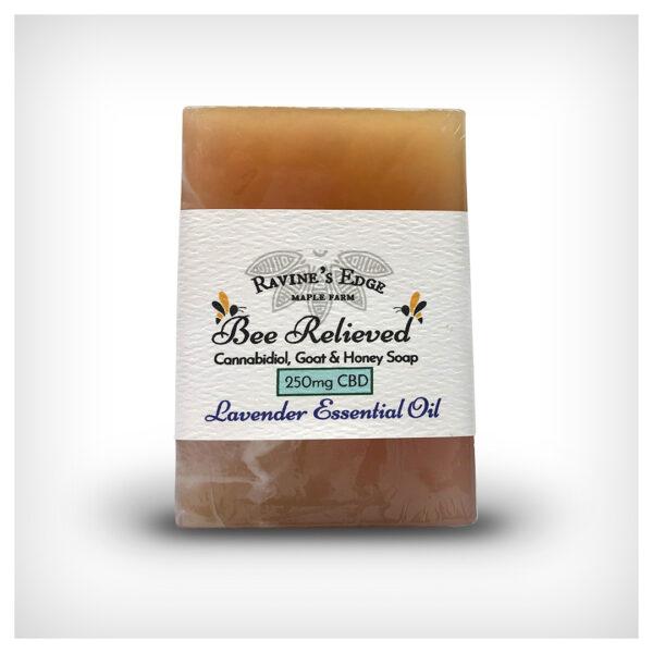 Bee Relieved 250mg CBD Goat Milk & Honey Lavender Soap
