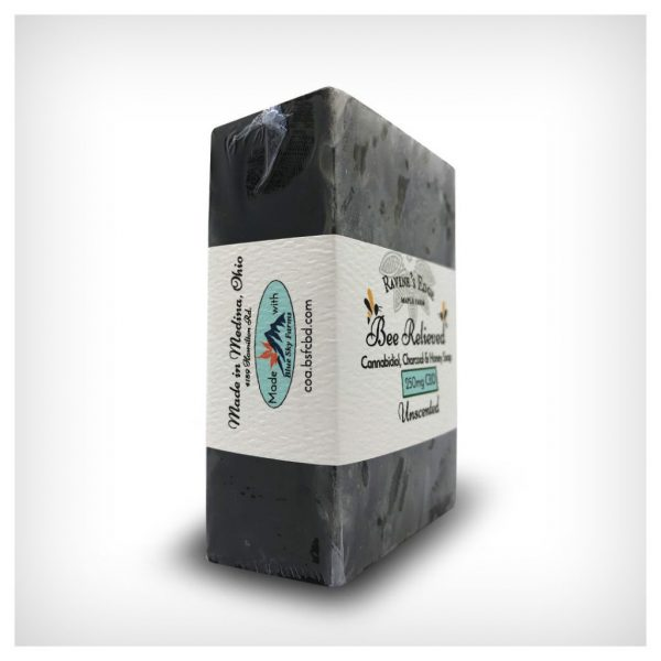 Bee Relieved 250mg CBD Charcoal Soap