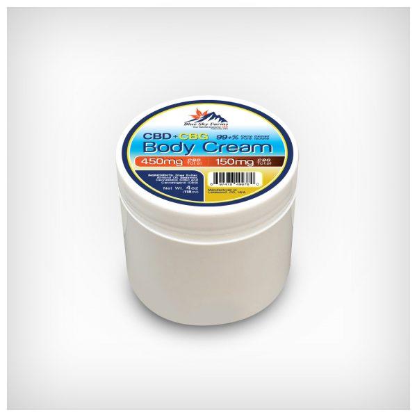 Hemp Derived CBD 450mg CBG 150mg Body Cream 4oz